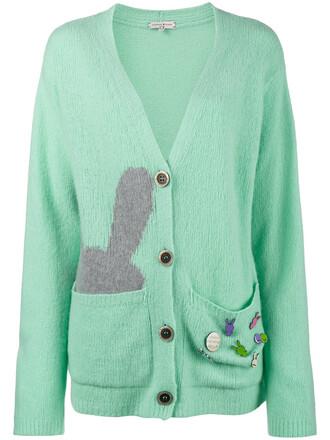 cardigan oversized cardigan oversized bunny women blue wool sweater