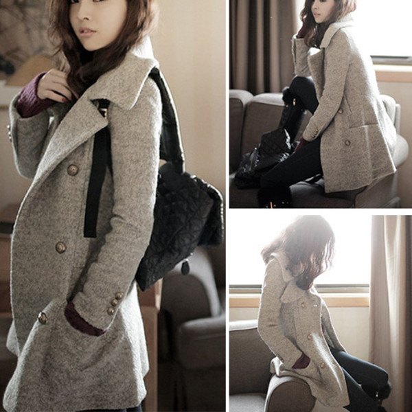 Coat: wool coat, fashion, clothes, warm coats, winter coat, long ...