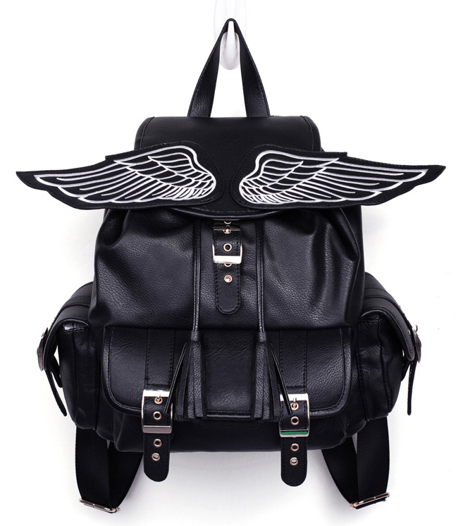 Preppy style harajuku amo ayumi wings backpack colorant match