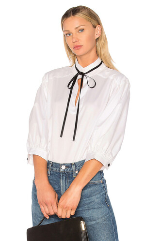 blouse white top