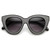 Indie Trendy Womens Block Cut Oversize Cat Eye Sunglasses 9160