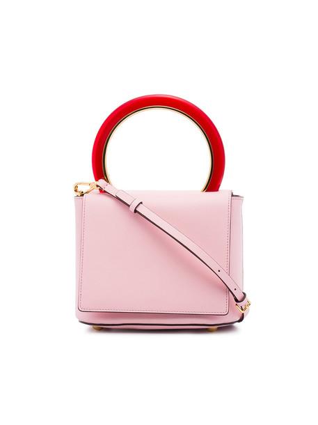 MARNI cross women bag leather purple pink