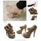 Ollio womens pumps platform open toe high heels ribbon accent multi colored shoe | ebay