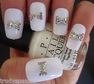 Bling 3d nail art metal bows with rhinestone 3d nail art bling bling 3d nail art metal bows with rhinestone 3d nail art decoration new ebay prinsesfo Images
