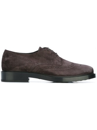 women leather suede brown shoes