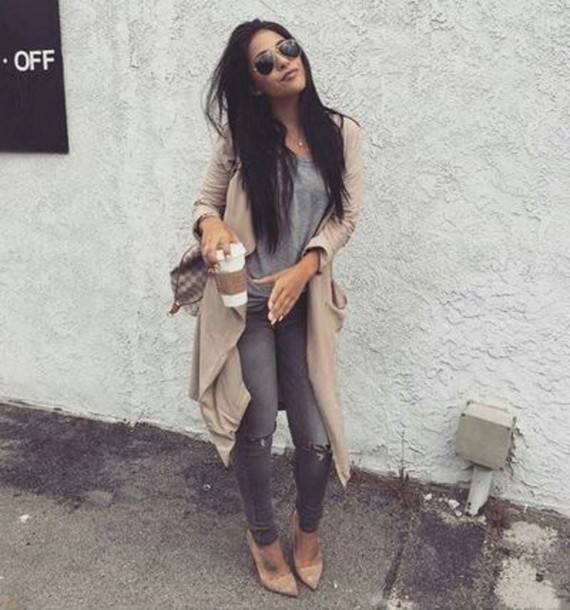 coat camel coat classy grey skinny jeans beautiful beige fall outfits beige jacket cardigan jacket spring long long jacket tan tan jacket long tan jacket tan cardigan tan coat long tan coat love clothes fashion