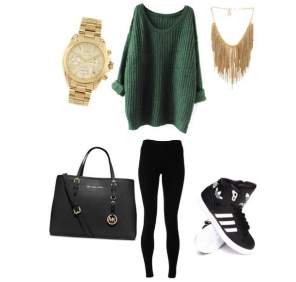 sweater pullover shoes adidas michael kors watch jewels handbag