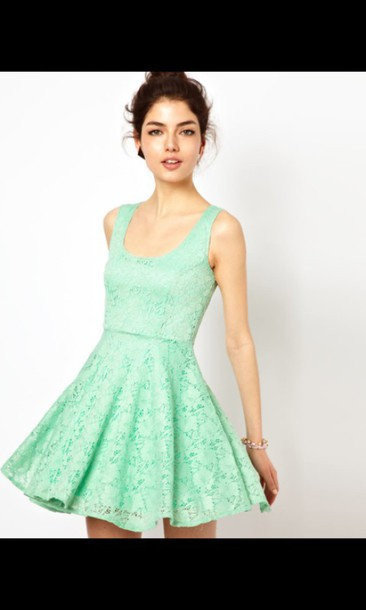 Dress: mint dress, tumblr dress, sexy dress, flirty dress, casual ...