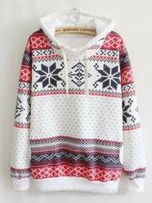 hoodie,fair isle,fair isle print