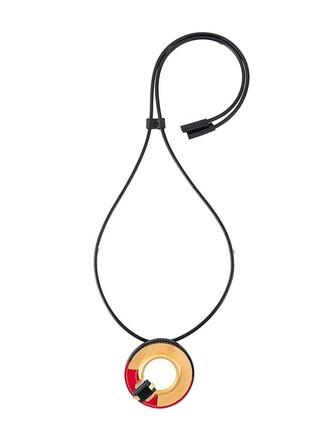 necklace pendant black jewels