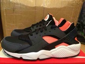 shoes,black pink nike huraches,black pink coral huraches nike trainers shoes