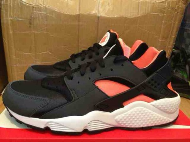 shoes, black pink nike huraches, black