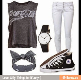 t-shirt grey t-shirt tumblr outfit hair accessory hat pants