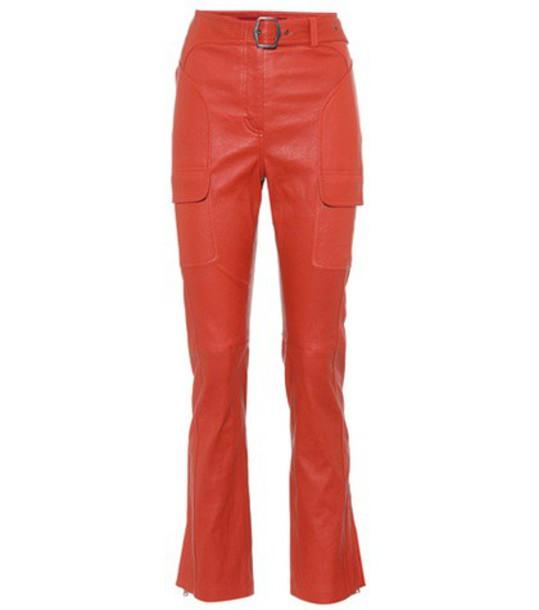 SIES MARJAN leather red pants