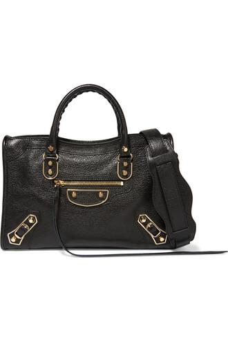 metallic bag shoulder bag leather black