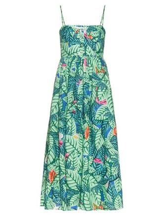 dress midi dress midi print green