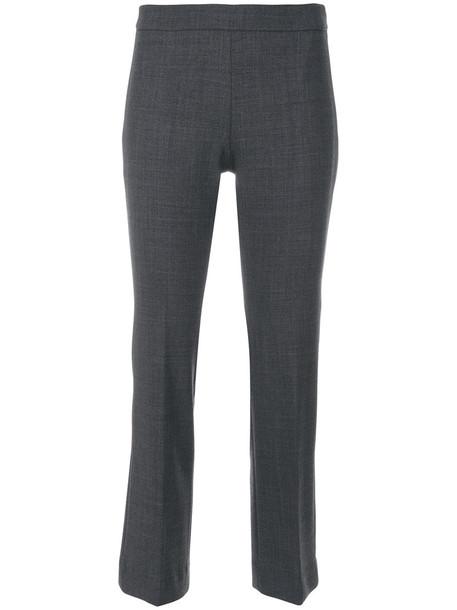INCOTEX cropped women spandex wool grey pants