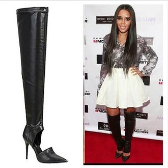 pumps boots fashion style heels knee high socks heidi klum celebrity style blogger