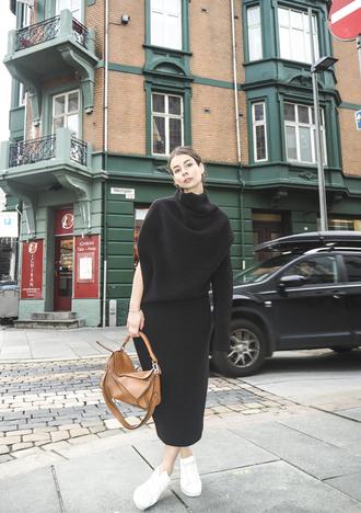 a portable package blogger dress bag shoes loewe bag
