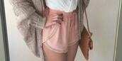 shorts,rose,mini shorts,pink