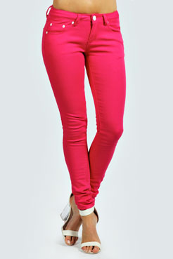 Mercey Skinny Fit Denim Jeans at boohoo.com