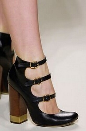 black shoes shoes chloé high heels