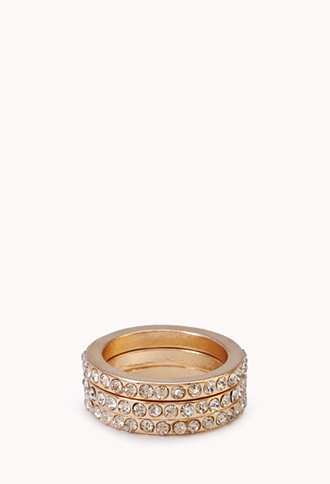 Subtle Shine Midi Ring Set | FOREVER21 - 1000071236