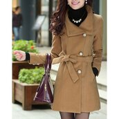 coat,jacket,brown,long sleeves,fashion,style,warm,fall outfits,winter outfits,trendsgal.com