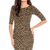 Three Quarter Sleeve Fitted Jersey Dress