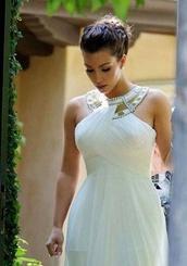 dress,white dress,formal dress,long prom dress,maxi dress,kim kardashian dress,gold neckline,bag,kim kardashian,celebrity style,kardashians,gold dress,long dress,celebrities dress,white kim kardashian dress