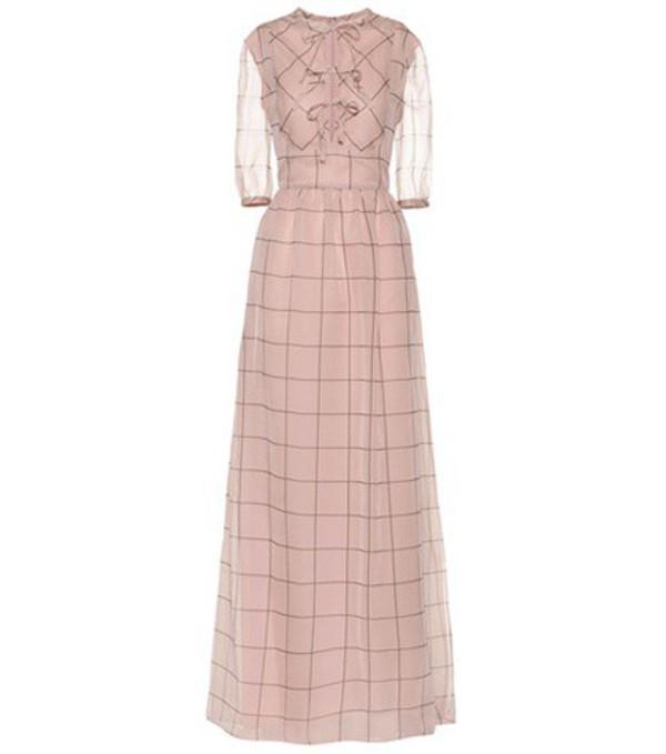Valentino Silk maxi dress in pink