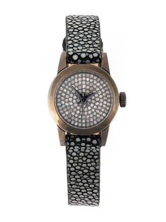 cute watch grey jewels