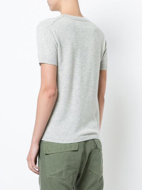 Nili Lotan t-shirt shirt t-shirt women grey top