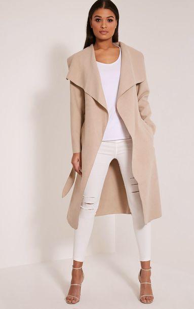 17d51fcf228 coat beige nude beige long coat beige coat beige parka trench coat open  stitch coat fall