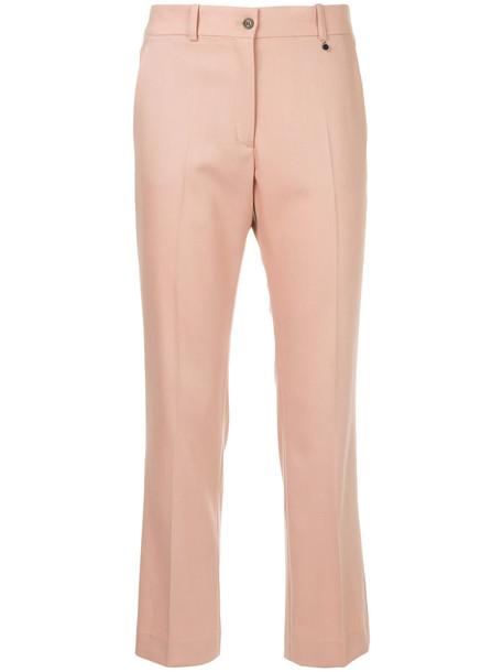 Jil Sander Navy cropped women wool purple pink pants