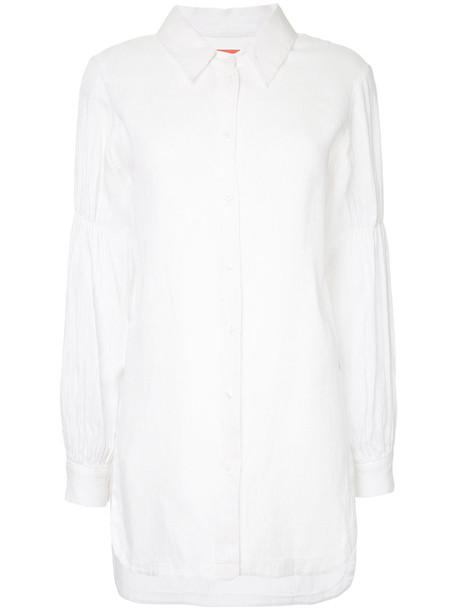 Manning Cartell shirt women stripes white cotton top