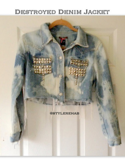 jacket studs denim jacket studed jacket denim