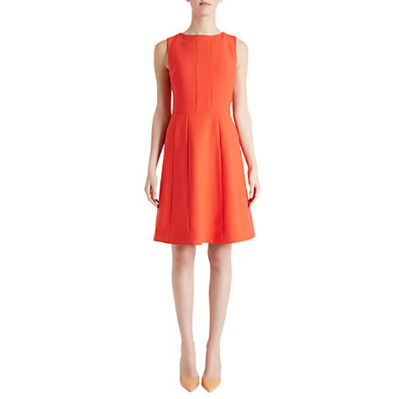 orange dress fenn wright manson crepe daisy dress firecracker daisy dress crepe dress fenn wright manson