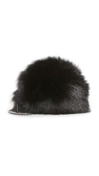 mini fur love bag mini bag black