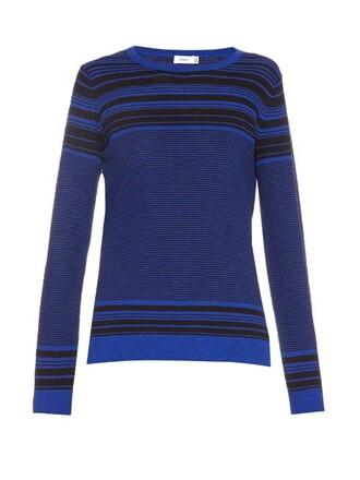 sweater cotton blue black