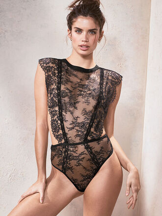 underwear lingerie lace lingerie sexy lingerie sara sampaio model victoria's secret victoria's secret model bodysuit
