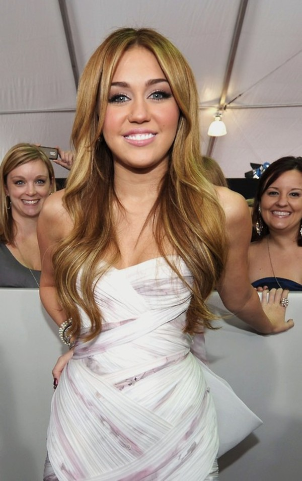 Dress: white and purple dress, bodycon dress, miley cyrus - Wheretoget