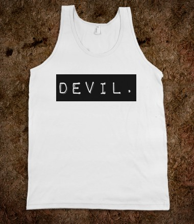 labeled: devil (tank, unisex) - labeleddevil - Skreened T-shirts, Organic Shirts, Hoodies, Kids Tees, Baby One-Pieces and Tote Bags Custom T-Shirts, Organic Shirts, Hoodies, Novelty Gifts, Kids Apparel, Baby One-Pieces | Skreened - Ethical Custom Apparel
