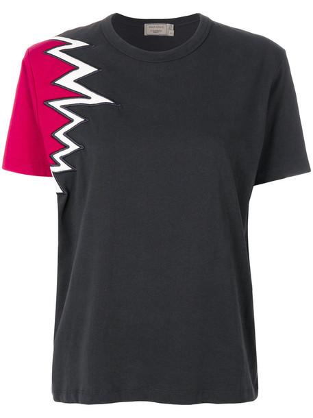 Maison Kitsuné Maison Kitsuné - spike T-shirt - women - Cotton - XS, Grey, Cotton