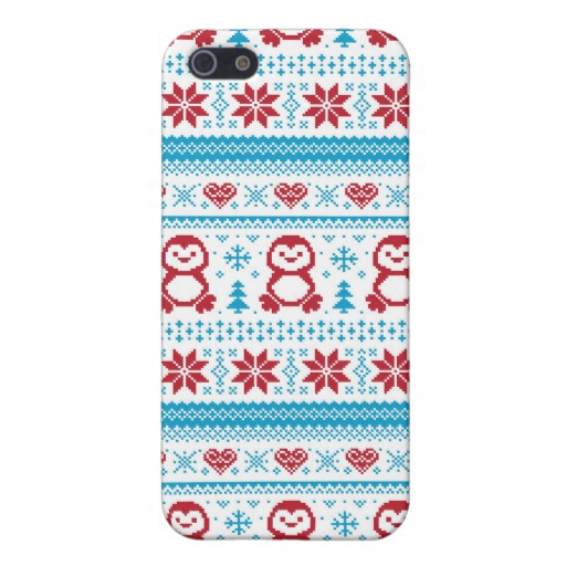 Christmas and Winter knitted pattern Case For iPhone 5 - Zazzle.com.au