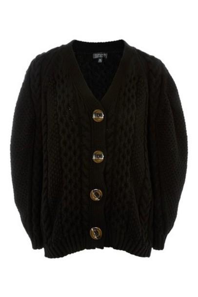 Topshop cardigan cable knit cardigan cardigan black knit sweater