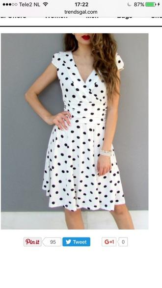 dress polka dots vintage fashion summer trendy cute feminine girly trendsgal.com
