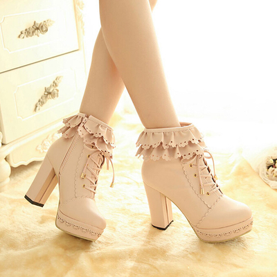 Sweet lace high-heeled shoes · Women Fashion {Europe America} · Online Store Powered by Storenvy