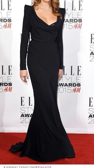 dress black dress long dress