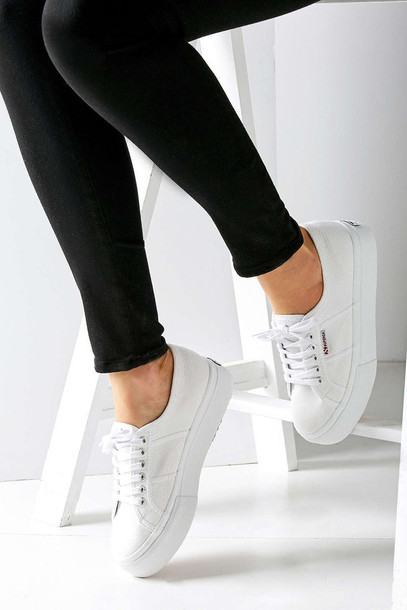 shoes, white sneakers, superga, low top